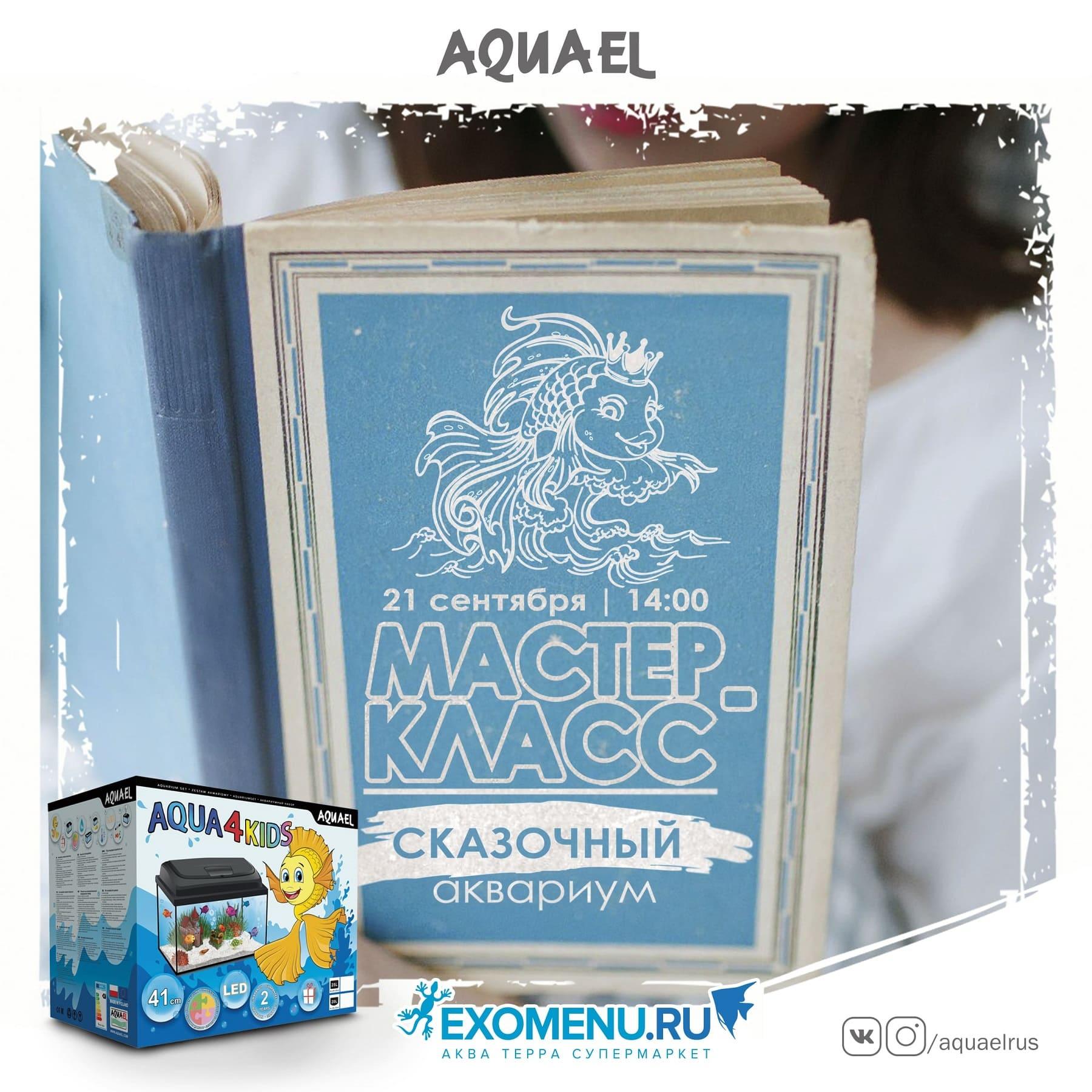 """Мастер-класс """"Сказочный аквариум"""" с AQUAEL 21 сентября"""