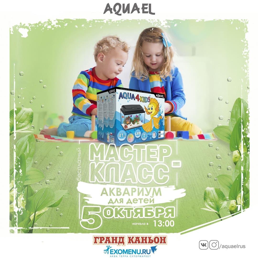 Мастер-класс по оформлению двух детских аквариумов AQUAEL Aqua4kids