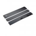Комплект пластиковых крышек 100х50см 3шт черный (93980)