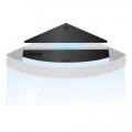 Комплект пластиковых крышек для Juwel Trigon 190 черный (93935)