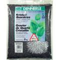 Аквариумный грунт Dennerle Kristall-Quarz, гравий фракции 1-2 мм, цвет черный, 5 кг