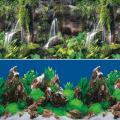 """Фон 9026/9028, 0,4*15м """"Тропический водопад/Скалы в глубине"""""""