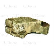 """UDeco Fossilized Wood Stone M - Натуральный камень """"Окаменелое дерево"""" для оформления аквариумов и террариумов, 1 шт."""