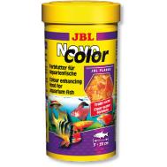 АКЦИЯ -20% JBL NovoColor - Основной корм в форме хлопьев для  особенно яркой окраски рыб, 100 мл. (16 г.)