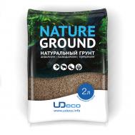 """UDeco River Brown - Натуральный грунт для аквариумов """"Коричневый песок"""", 0,1-0,6 мм, 2 л"""