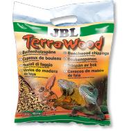 JBL TerraWood - Буковая щепа, натуральный донный субстрат для сухих и полусухих террариумов, 5 л.
