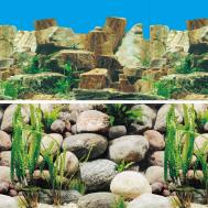 """Фон 9023/9025, 0,6*15м """"Каменное многоцветье/Русло реки"""""""
