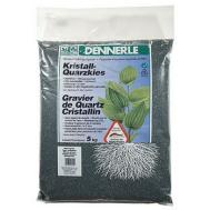 Аквариумный грунт Dennerle Kristall-Quarz, гравий фракции 1-2 мм, цвет темно-зеленый (цвет мха), 5 кг.