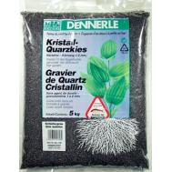Аквариумный грунт Dennerle Kristall-Quarz, гравий фракции 1-2 мм, цвет черный, 5 кг.
