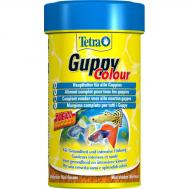 Корм для  окраса гуппи и других живородящих рыб Tetra  Guppy Colour 100 ml хлопья