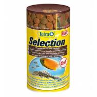Корм Tetra Selection 100 мл 4 вида основного корма в одной баночке: хлопья, чипсы, гранулы, вафер микс