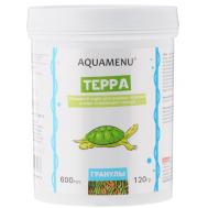 Корм AQUAMENU Терра 600 мл, плавающие гранулы для водных черепах