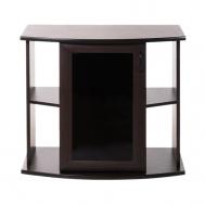 Пoдставка фигурная 100 (1010Х410Х710) с одной дверкой МДФ со стеклом, венге, собранная, ПВХ