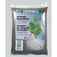 Аквариумный грунт Dennerle Kristall-Quarz, гравий фракции 1-2 мм, цвет сланцево-серый, 5 кг.