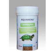 Корм AQUAMENU Гаммарус 100 мл, для крупных и средних рыб, черепах