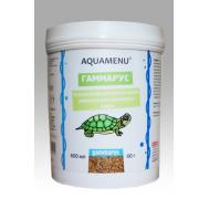 Корм AQUAMENU Гаммарус 600 мл, для крупных и средних рыб, черепах