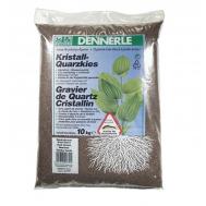 Аквариумный грунт Dennerle Kristall-Quarz, гравий фракции 1-2 мм, цвет темно-коричневый, 10 кг.