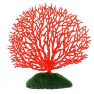 Горгонария силиконовая Glowing Coral, зеленая светящ.13х14 см