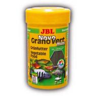 JBL NovoGranoVert mini - Основной корм в форме гранул для растительноядных пресноводных аквариумных рыб и креветок, 100 мл (40 г)