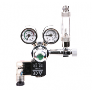 Редуктор СО2 с электромагнитным клапаном, счётчиком пузырьков и обратным клапаном