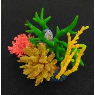 Композиция из кораллов пластик+силикон 19х18х16.5см (SH270)