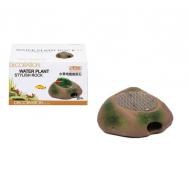 Камень-укрытие для мелких рыб и керамическая площадка с сеткой из нержавеющей  стали для культивации