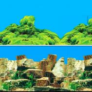 """Фон 9023/9064, 0,6*15м """"Каменное многоцветье/Морской каньон"""""""