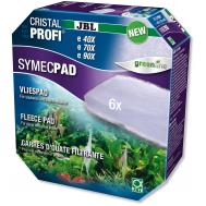 JBL SymecPad II CPe - Синтепоновая прокладка тонкой фильтрации для внешних фильтров JBL CristalProfi e4/7/901-2, 6 шт.