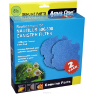 Aqua One Sponge 81s - Губка грубой очистки (15 ppi) для внешних фильтров Nautilus 600/800, синяя