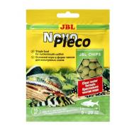 JBL NovoPleco - Основной корм в форме тонущих чипсов для кольчужных сомов и других донных рыб, 15 г
