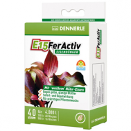 Dennerle E15 FerActiv - Железосодержащее удобрение  длительного действия для всех аквариумных растений в таблетках, 40 шт. на 4000 л
