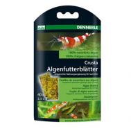 """Корм из 100% натуральных водорослей в виде """"листков"""" Dennerle Nano Algenfutterblatter в качестве добавки к корму для креветок, 40 шт."""