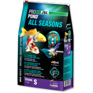 JBL ProPond All Seasons S - Основной всесезонный корм в форме плавающих палочек для карпов кои небольшого размера, 1,1 кг (6 л)