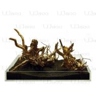 """UDeco Desert Driftwood Aquascape - Набор для оформления акваскейпов из нескольких натуральных """"пустынных"""" коряг, упаковка 0,3-0,5 кг"""
