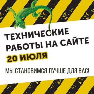Технические работы на сайте 20 ИЮЛЯ.