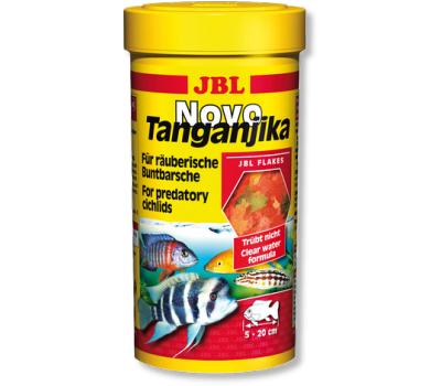 JBL NovoTanganjika - Корм в форме хлопьев из рыбы и планктонных животных для хищных цихлид из озер Малави и Таньгаика, 250 мл. (43 г.)