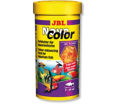 JBL NovoColor - Основной корм в форме хлопьев для  особенно яркой окраски рыб, 100 мл. (16 г.)