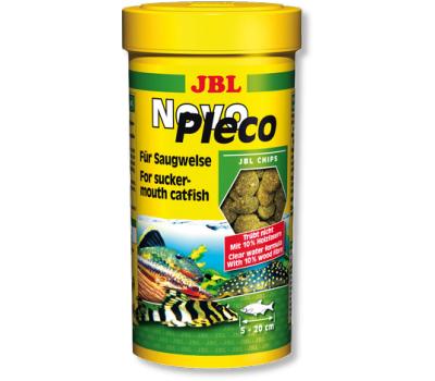 JBL NovoPleco - Водорослевые чипсы с примесью целлюлозы для кольчужных сомов, 250 мл. (125 г.) (СКИДКА 50%)