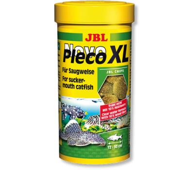 JBL NovoPleco XL - Водорослевые чипсы экстра-большого размера с примесью целлюлозы для кольчужных сомов, 250 мл. (125 г.)