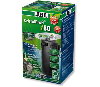 JBL CristalProfi  i80 greenline - Внутренний угловой фильтр для аквариумов 60-110 литров, 150-420 л/ч
