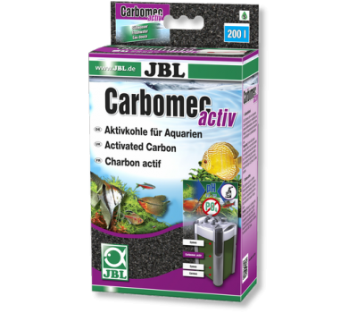 JBL Carbomec activ - Высокопроизводительный активированный уголь для пресноводных аквариумов, с мешком, 400 г.