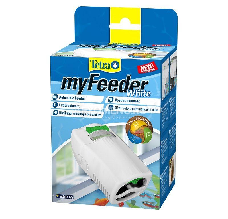 Автокормушка  Tetra myFeeder Белая для всех типов аквариумов, батарейки (2 шт)в комплекте