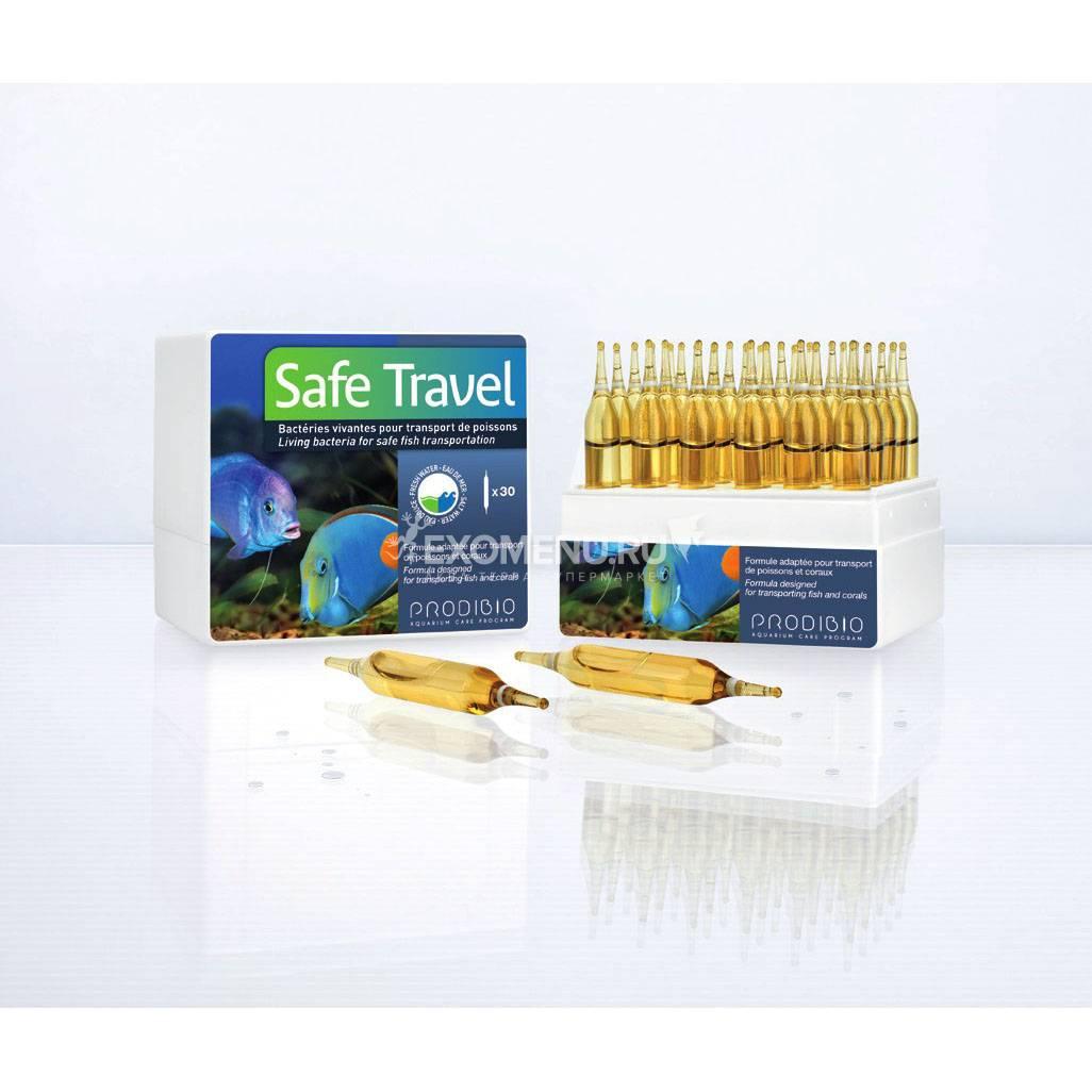 КОМФОРТНЫЙ ПЕРЕЕЗД SAFE TRAVEL бактериальный препарат для транспортировки рыбы, 1 шт