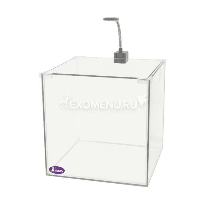 Аквариум GLOXY Optic Set-15, 25х25х25см, 15л, светильник, грунт + фильтр в подарок
