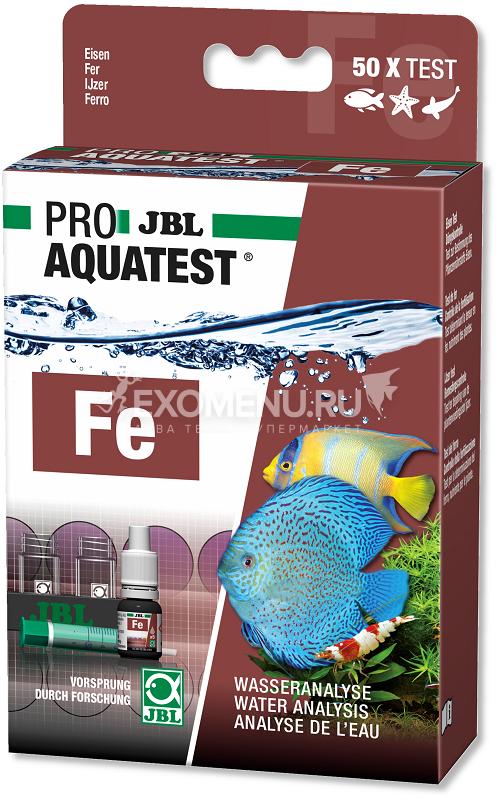 JBL ProAquaTest Fe Iron - Экспресс-тест для определения содержания железа в пресной и морской воде, примерно на 50 измерений