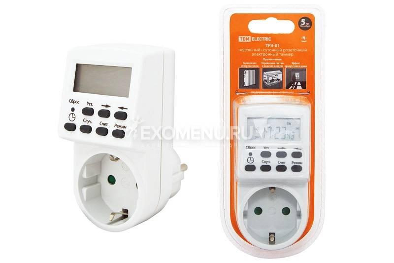 Таймер розеточный электронный TDM Electric ТРЭ-01-1 мин/7дн-20on/off-16 А, недельный