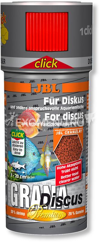 JBL GranaDiscus CLICK - Основной корм премиум-класса в форме гранул для дискусов, в банке с дозатором, 250 мл (110 г) фото