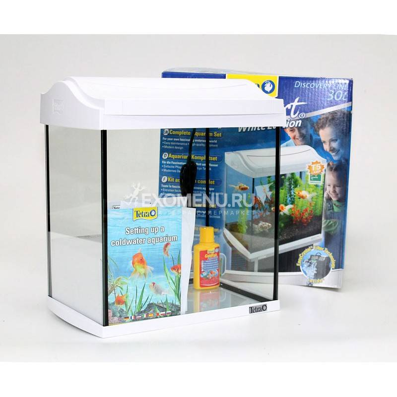 !Аквариум Tetra AquaArt 30l Goldfish БЕЛЫЙ