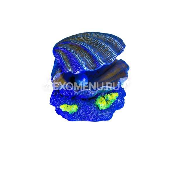 Декорация флуоресцирующая Glofish Ракушка (8 х 7.5 х 8см