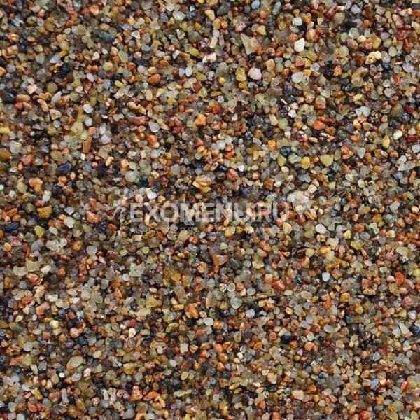 DECOTOP Vuoksa - Природный чистый коричневый гравий,  1-2 мм, 6 кг/4 л